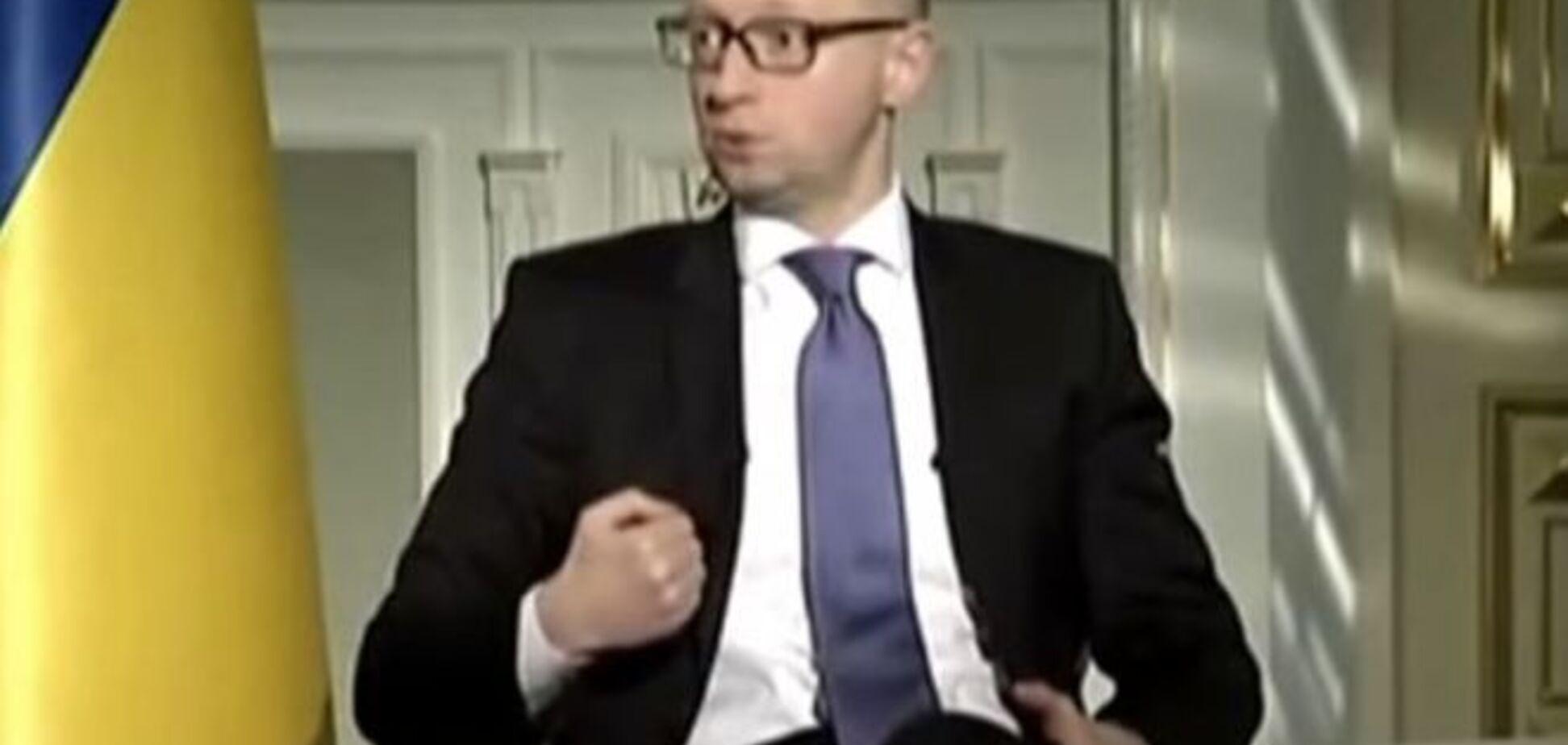 Яценюк открестился от падения гривни: это все Гонтарева. Видеофакт