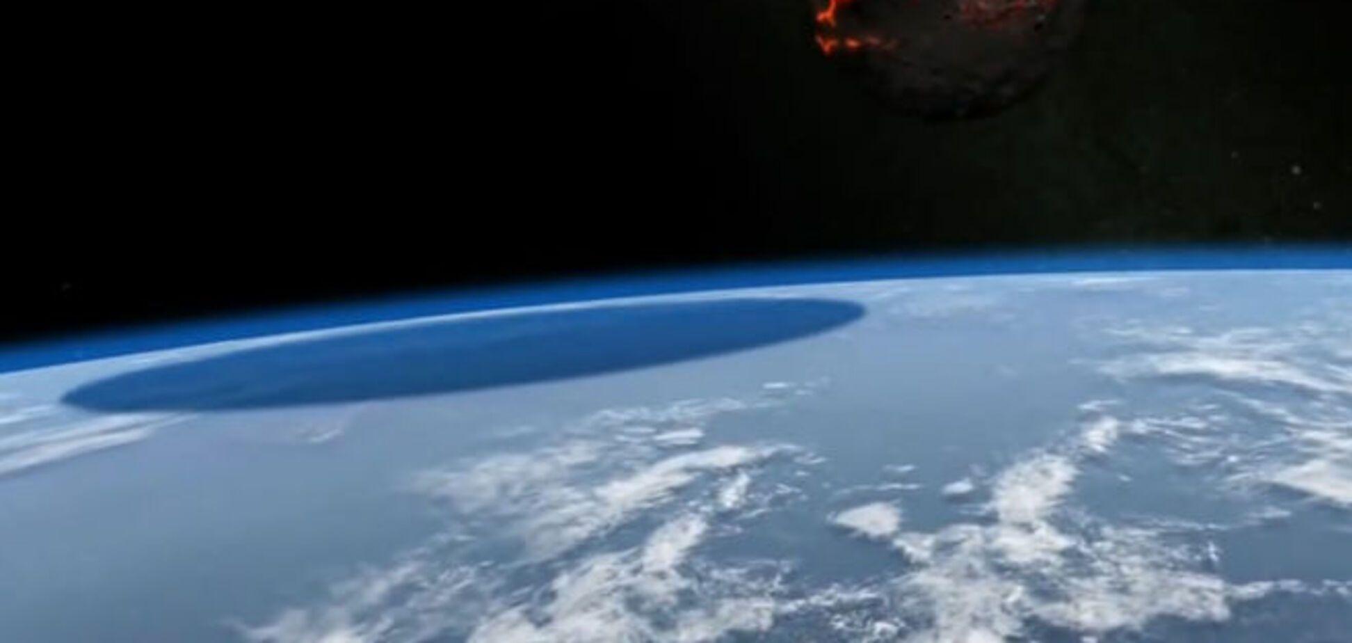 Удивительное видео столкновения Земли с астероидом