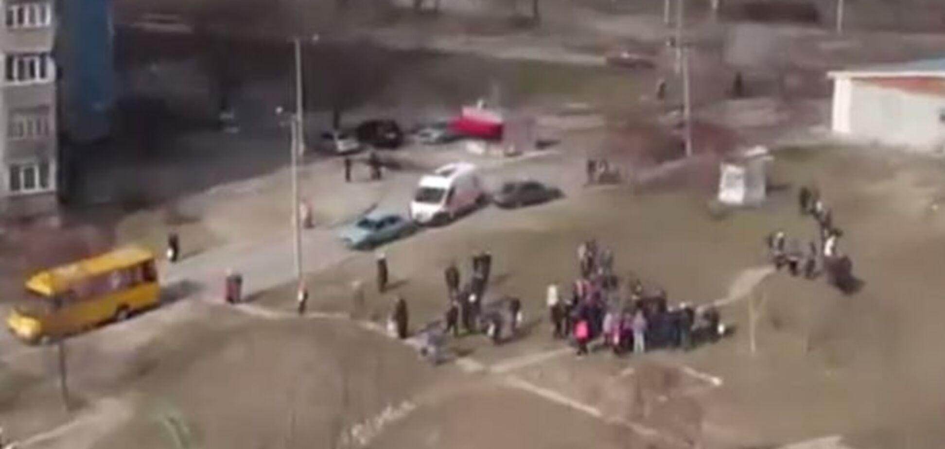 В Днепропетровске пьяный мужчина пострадал от брошенной им же гранаты
