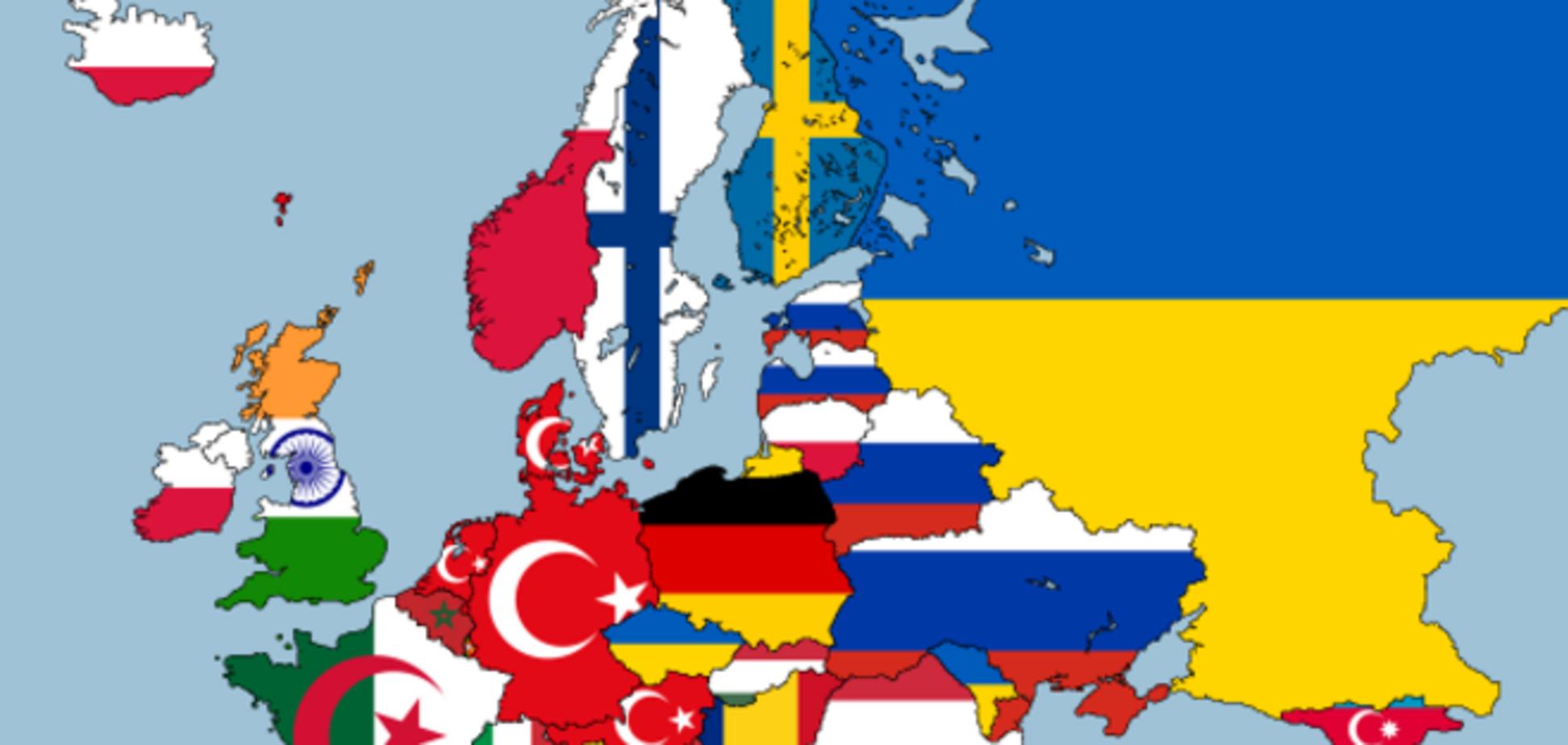 Карта европейских национальностей
