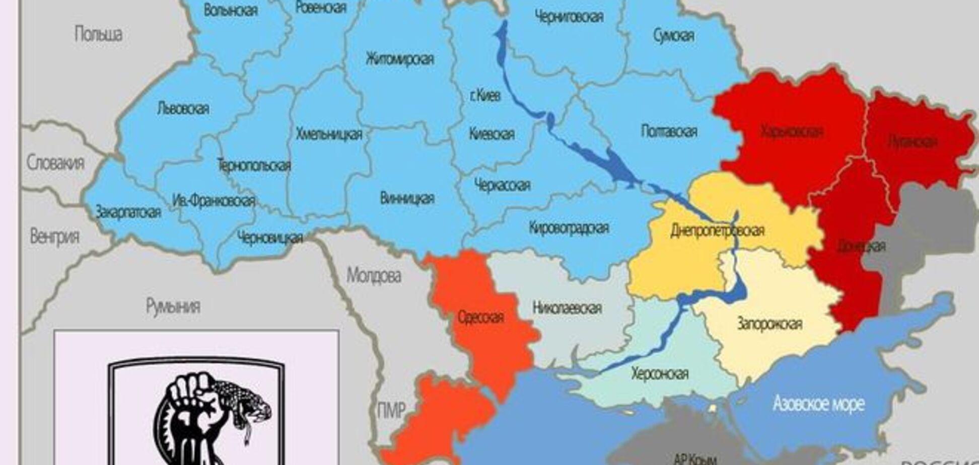 Опубліковано мапу терористичних загроз Україні. Інфографіка
