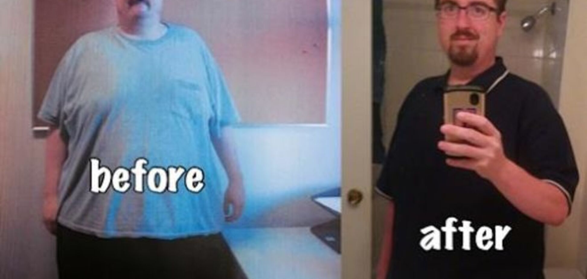 Мужчина похудел на 63 кг благодаря онлайн-игре. Фотофакт