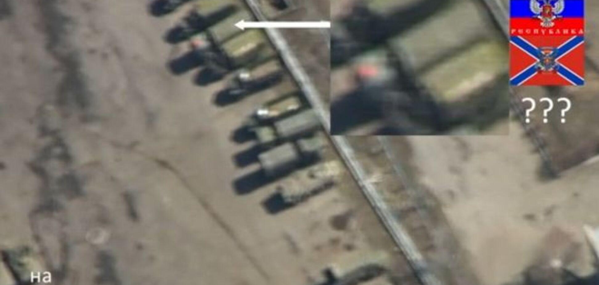 Беспилотник снял нарушение террористами минских договоренностей