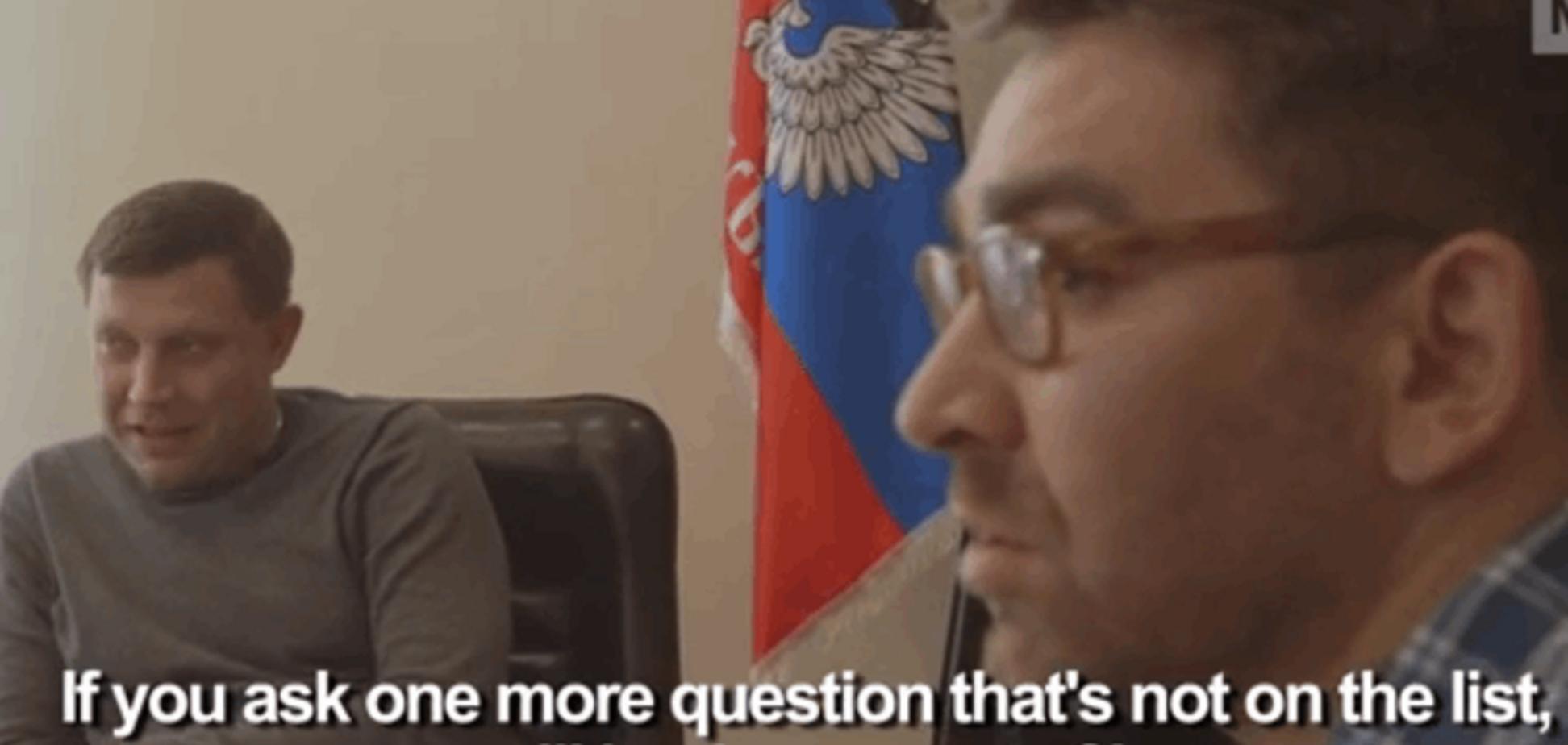 У Захарченка журналісту різко закрили рот за питання про обгорілих бурятів: Відеофакт