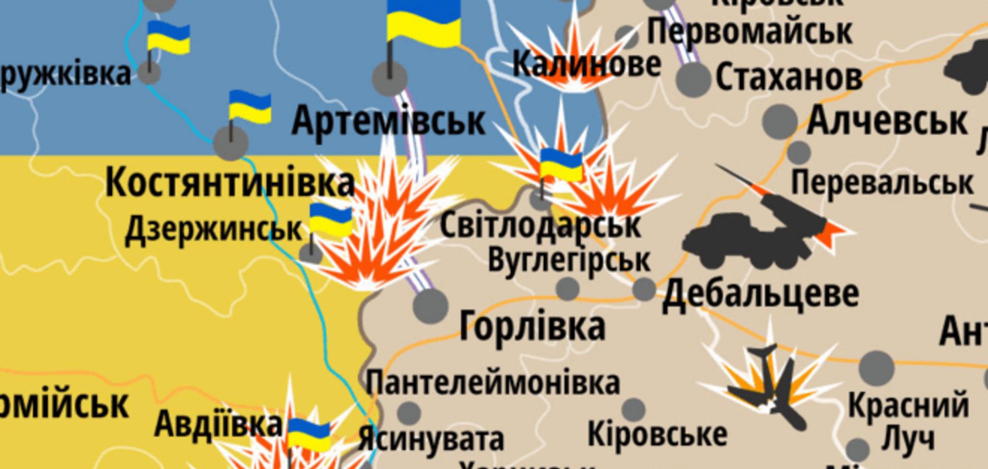 На Донбасі виник новий виток напруги: мапа АТО