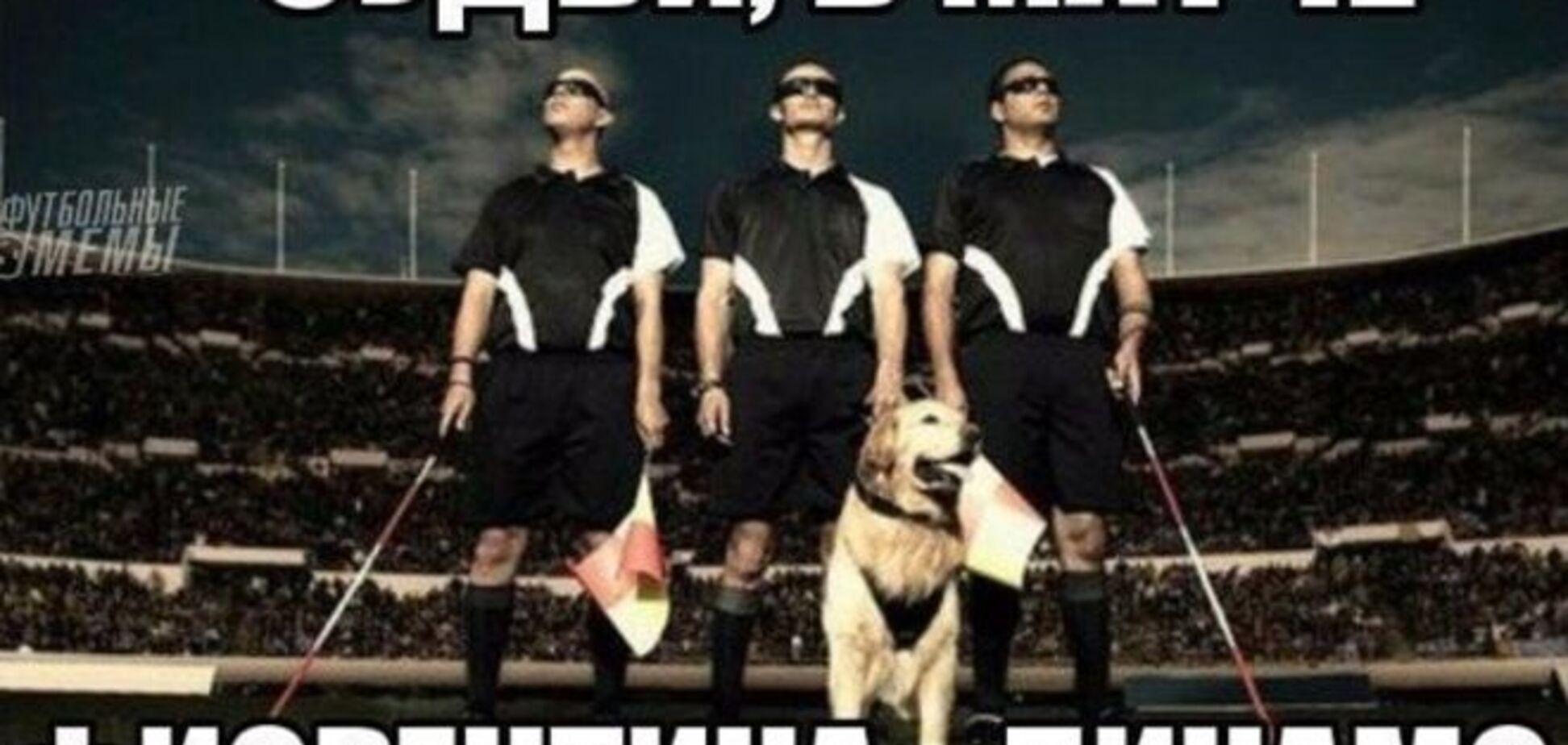 Слепой миллионер: фанаты высмеяли судью, похоронившего 'Динамо'