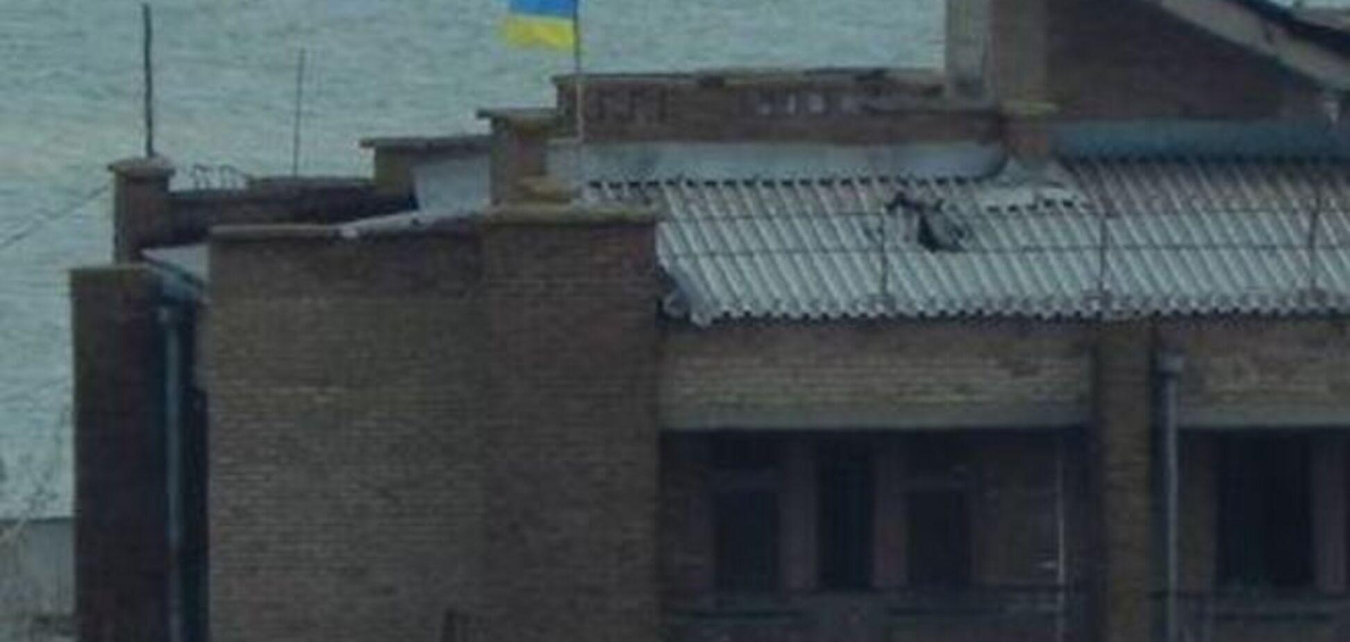 Батальон 'Донбасс' в Широкино дразнит террористов украинским флагом