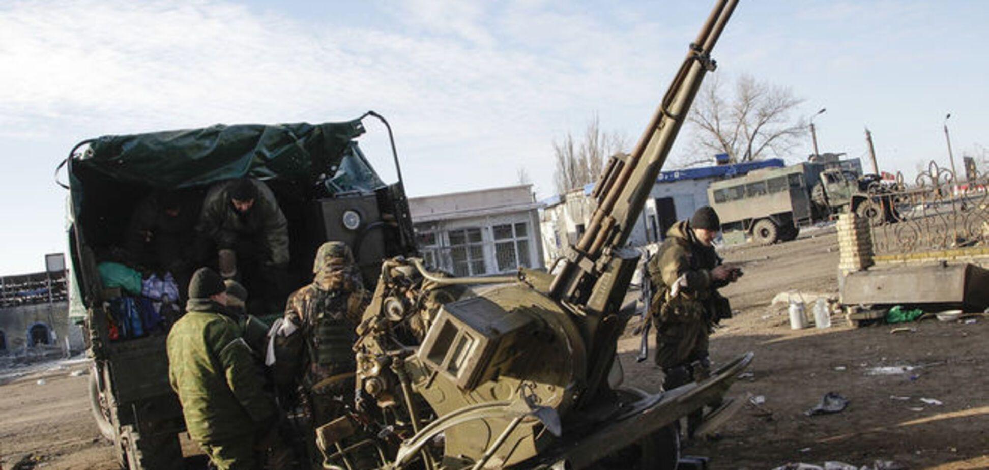 Боевики пустили в ход танки и САУ в районе Широкино