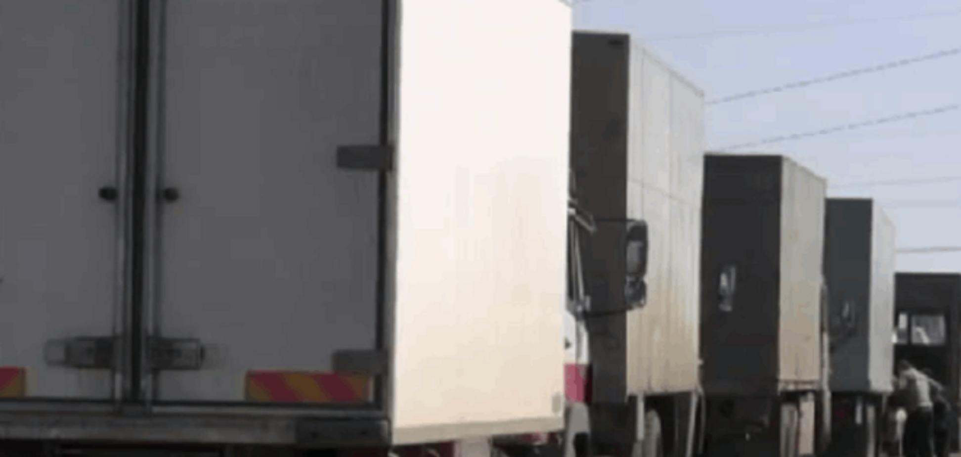 'Все кушать хотят': на Луганщине задержали 15 фур с контрабандными продуктами - видео