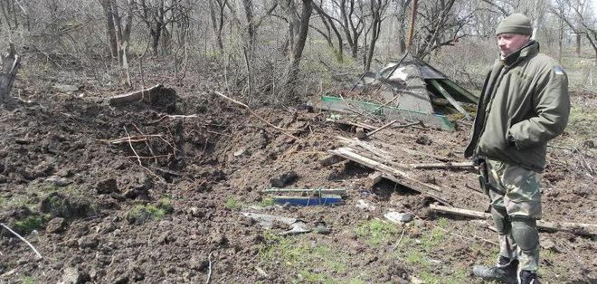 Бойцы АТО показали результаты обстрела террористами Широкино