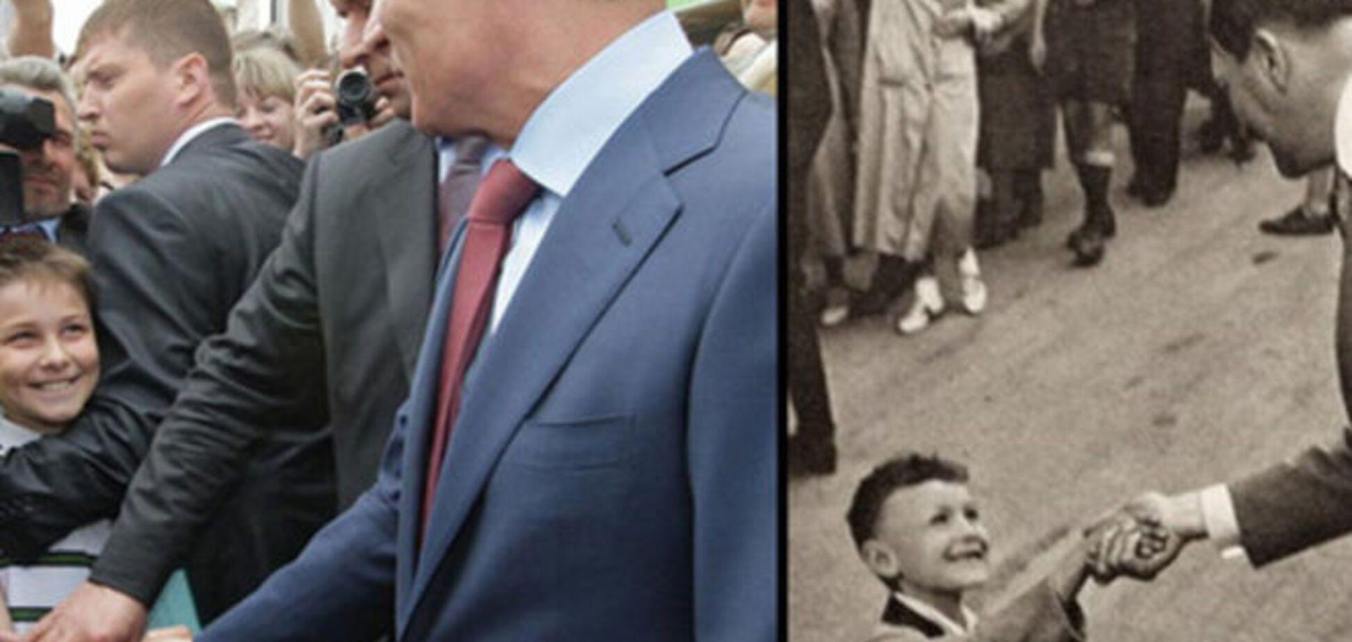 Росіяни навіть фюрера вкрали! Дивно схожі фото Путіна і Гітлера шокують
