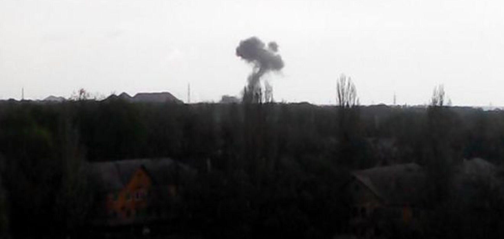 В Донецке взорвалась база террористов с тяжелой артиллерией