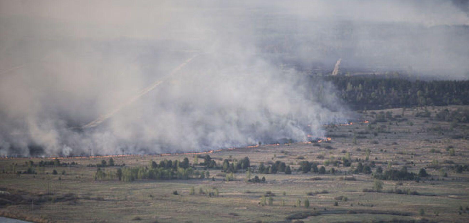 В зоне ЧАЭС тушат отдельные очаги возгорания