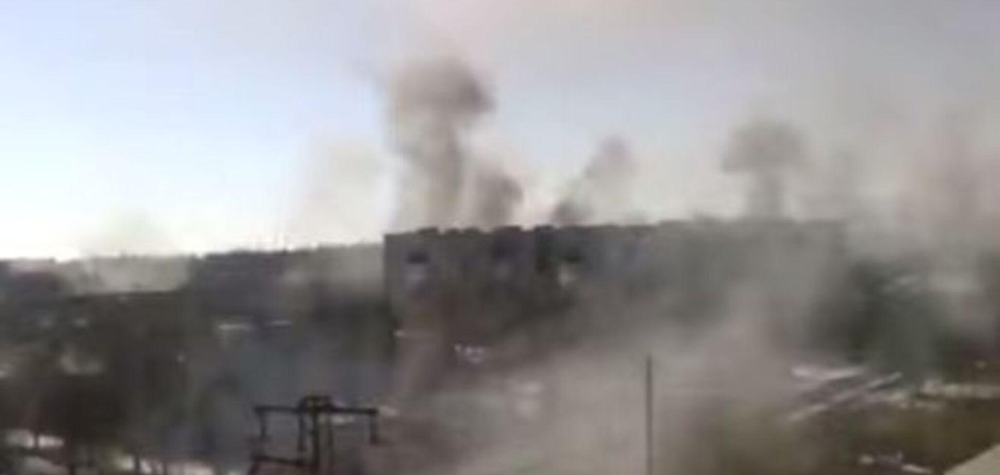 Опубліковано відео найсильніших артобстрілів Дебальцеве, зняте корегувальником