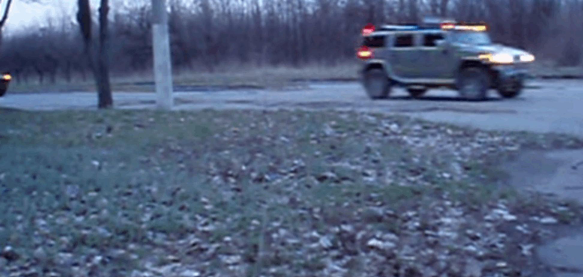 На Луганщині зняли чергову колону бронетехніки бойовиків під проводом 'Хаммера'