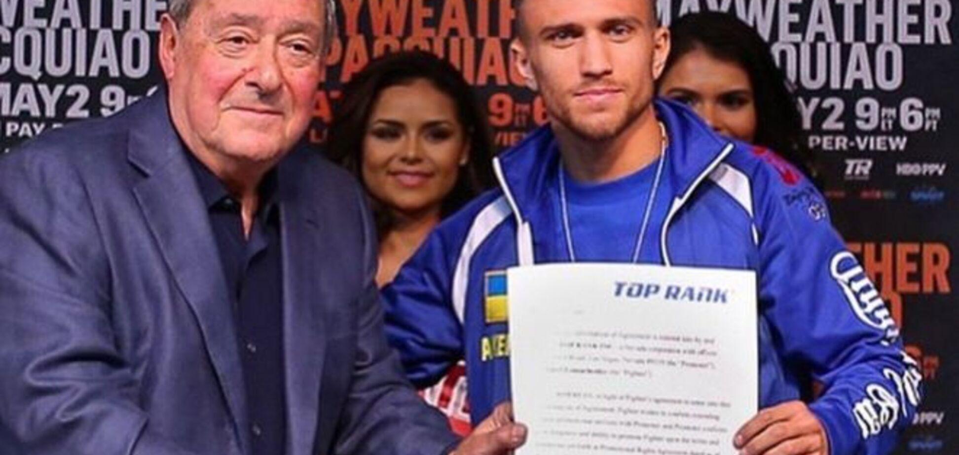 Украинский чемпион мира подписал многолетний контракт с Top Rank