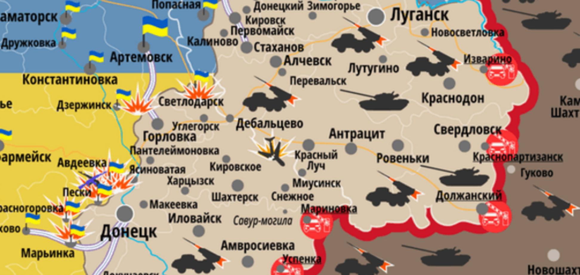 Терористи перейшли в режим 'від заходу до світанку': мапа АТО