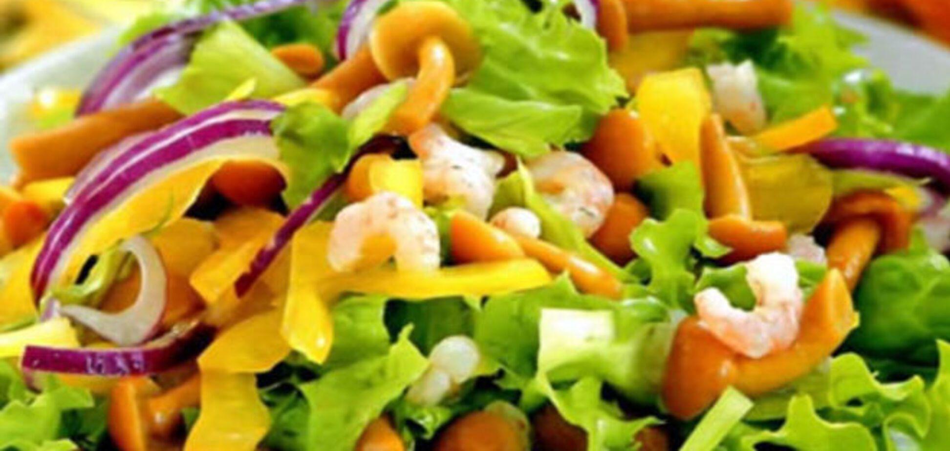 Салат с креветками и грибами 'Каннский фестиваль'