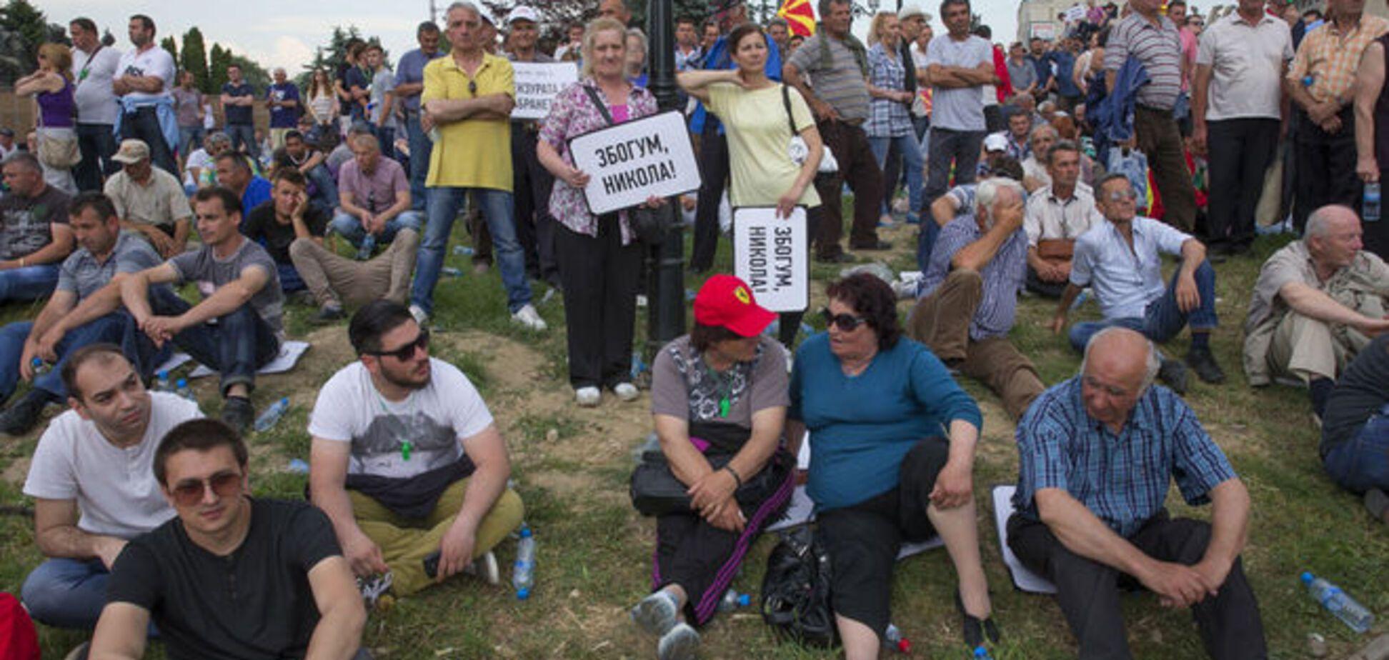 Майдан в Македонии: десятки тысяч человек требуют отставки правительства
