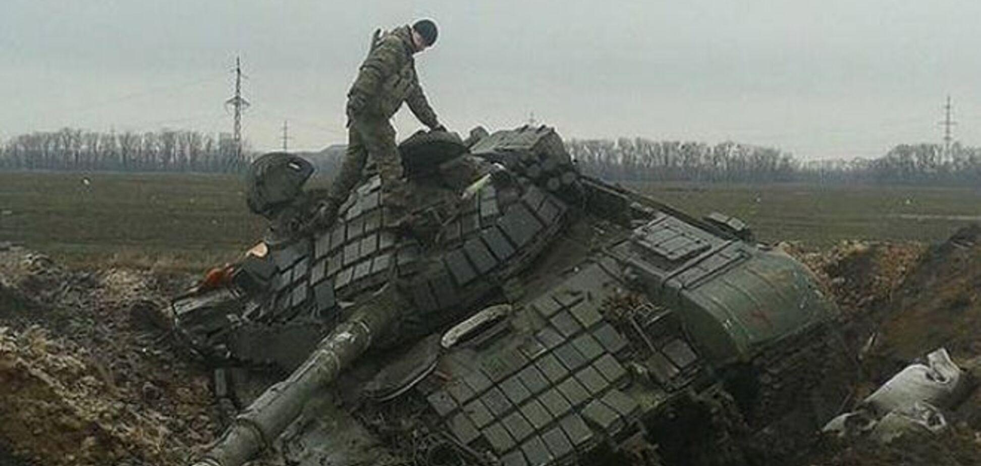 Українські бійці під Дебальцевим підбили три ворожі бронемашини