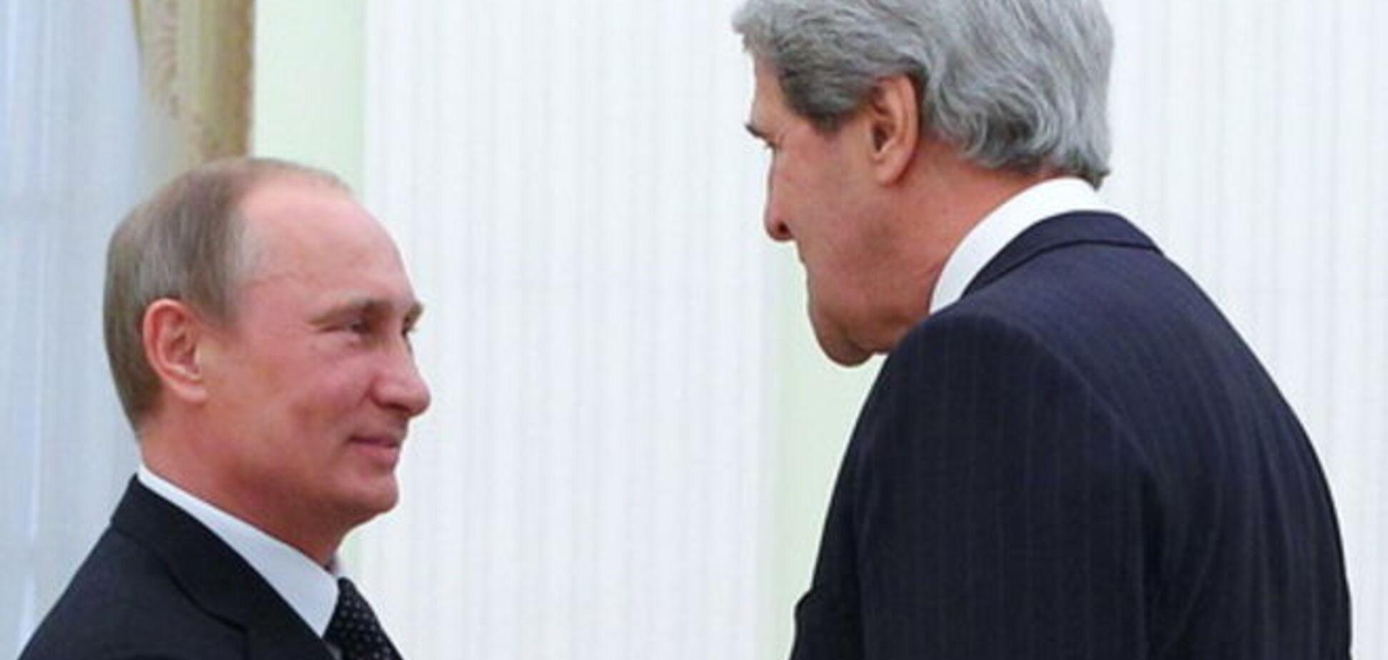 На встрече с Керри Путин сдался