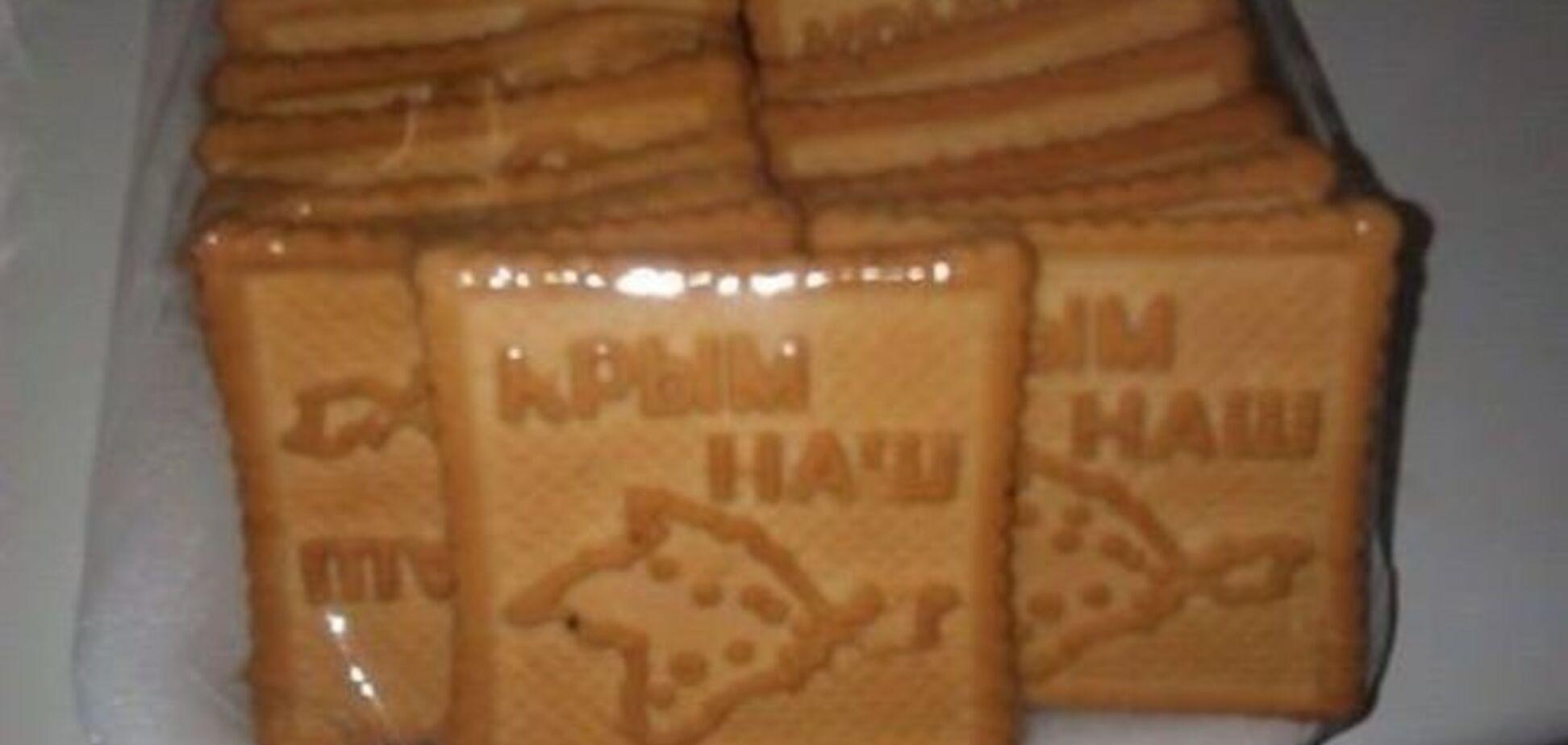 Не подавитесь? В России выпустили печенье 'Крымнаш': фотофакт