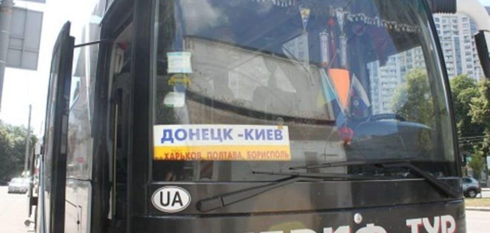 Замначальника милиции Донетчины мечтает расстреливать автобусы Донецк-Киев