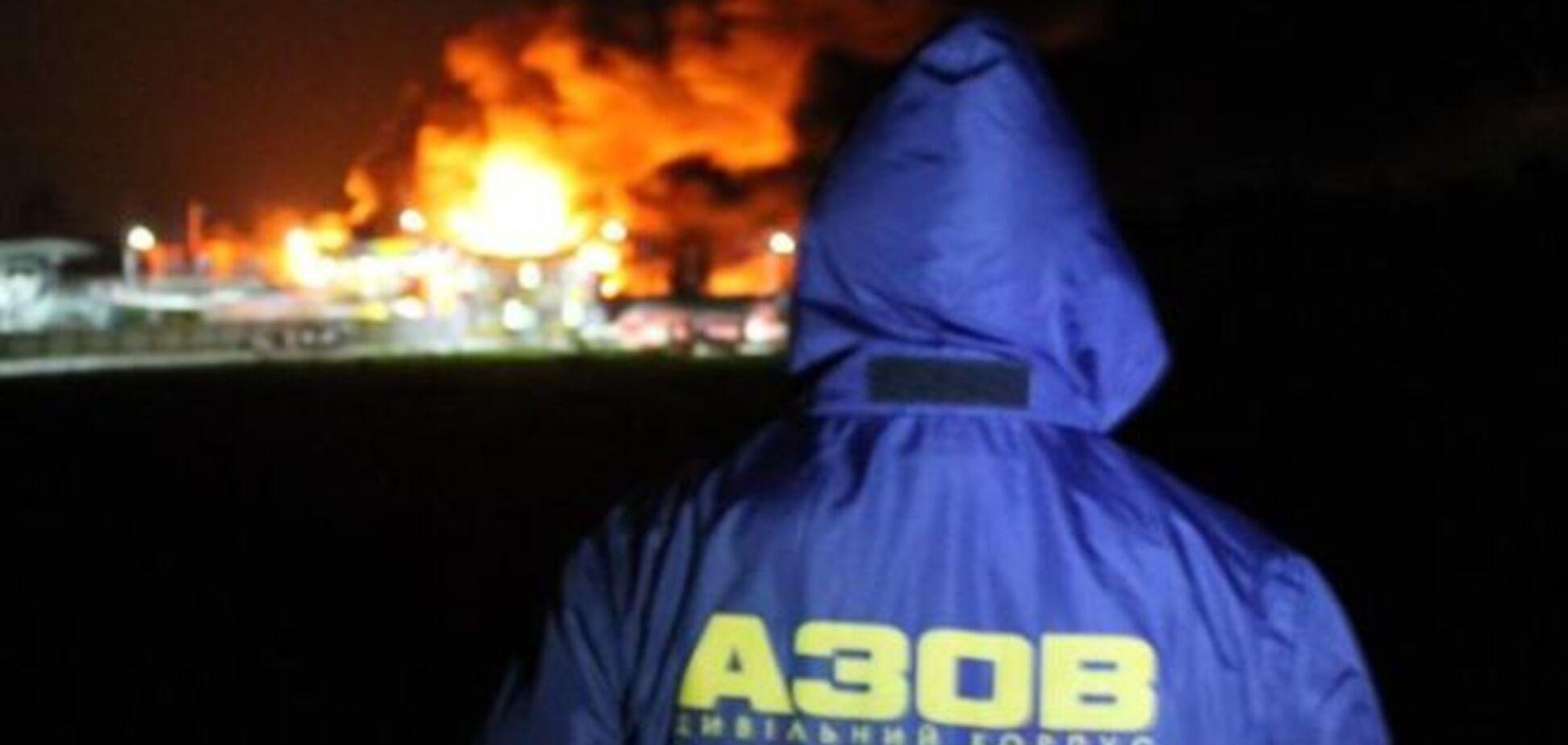 Второй фронт: 'Азов' показал фото ликвидации пожара в Василькове