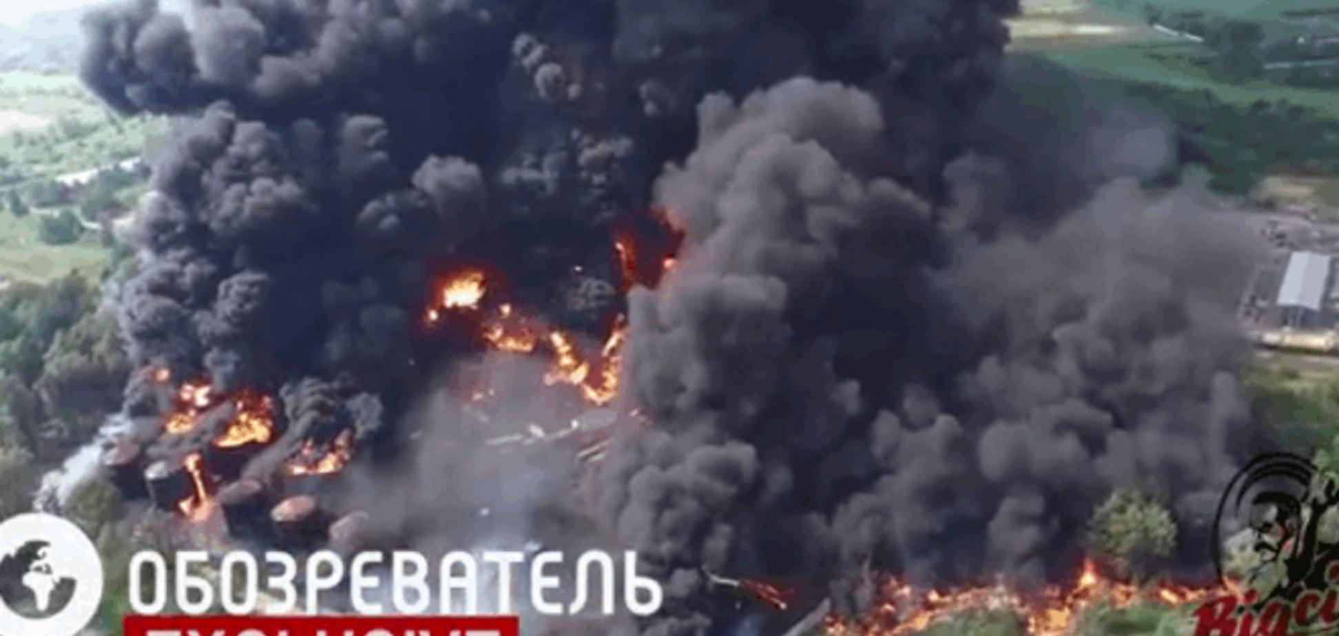 Яценюк хочет строго наказать руководство горящей нефтебазы