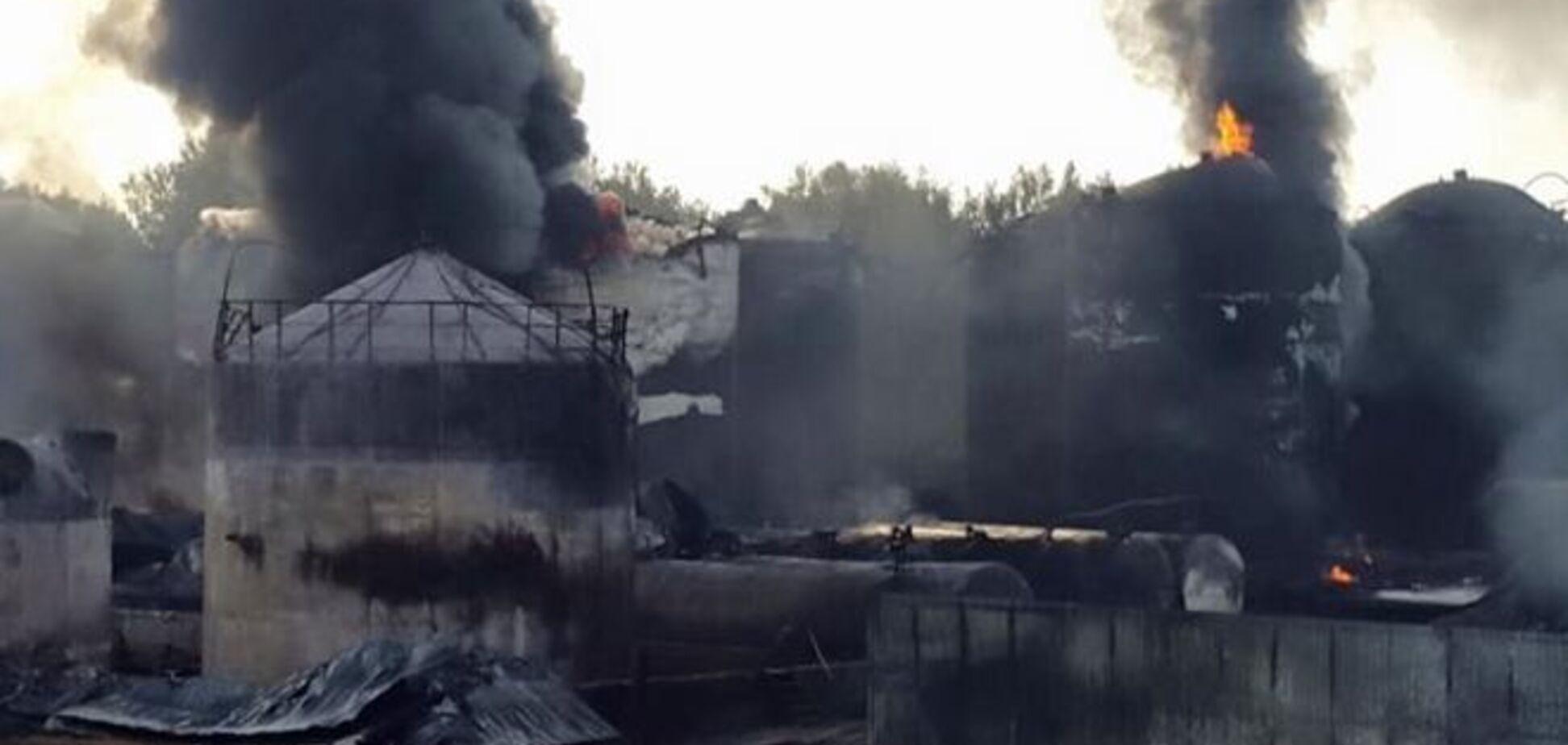 Владельцы горящей в Василькове нефтебазы сбежали в Россию - Турчинов