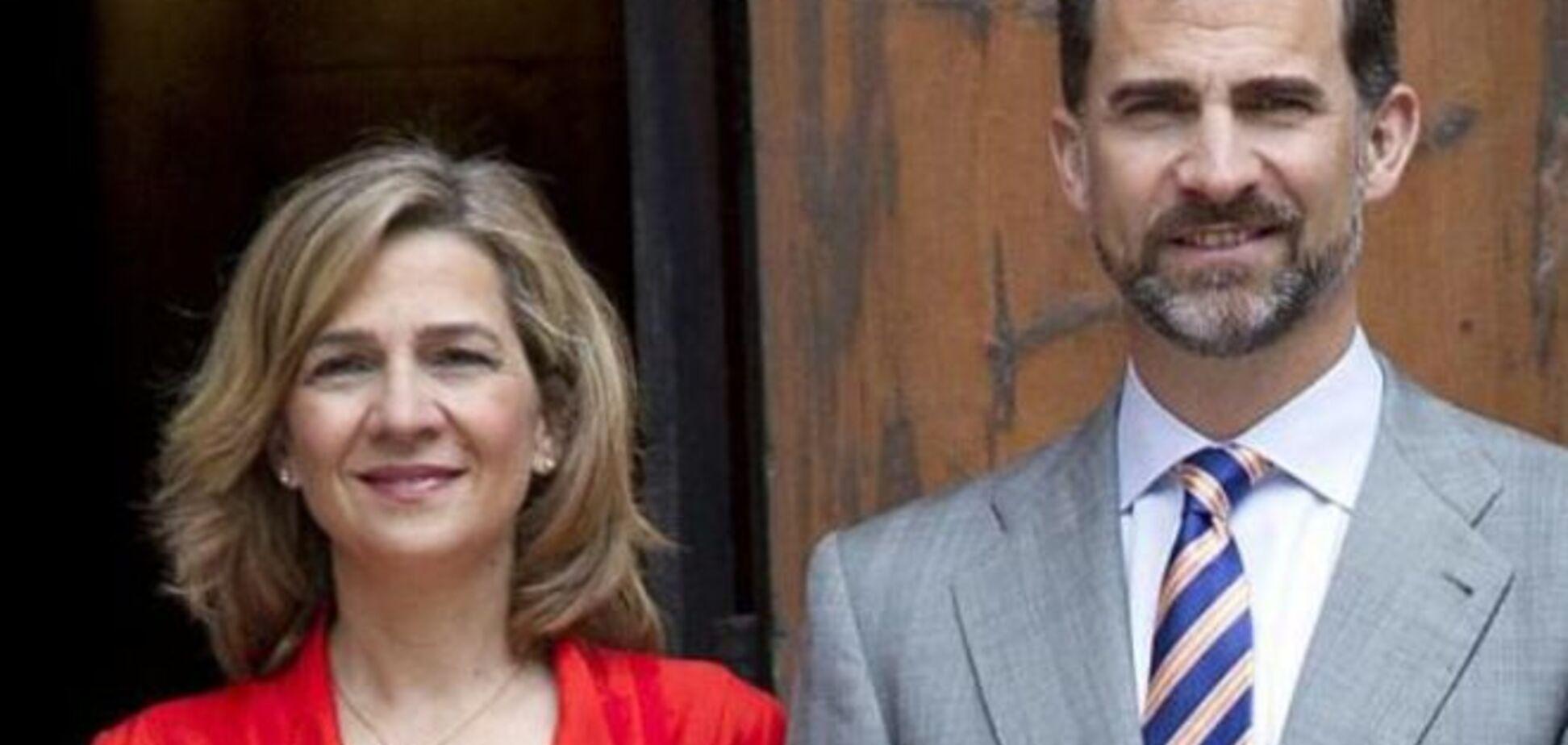 Король Испании лишил сестру титула герцогини за неуплату налогов