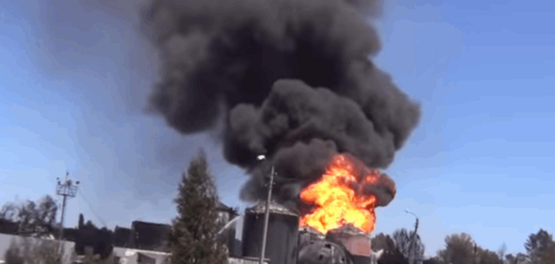 Новое возгорание на нефтебазе в Василькове: опубликовано видео
