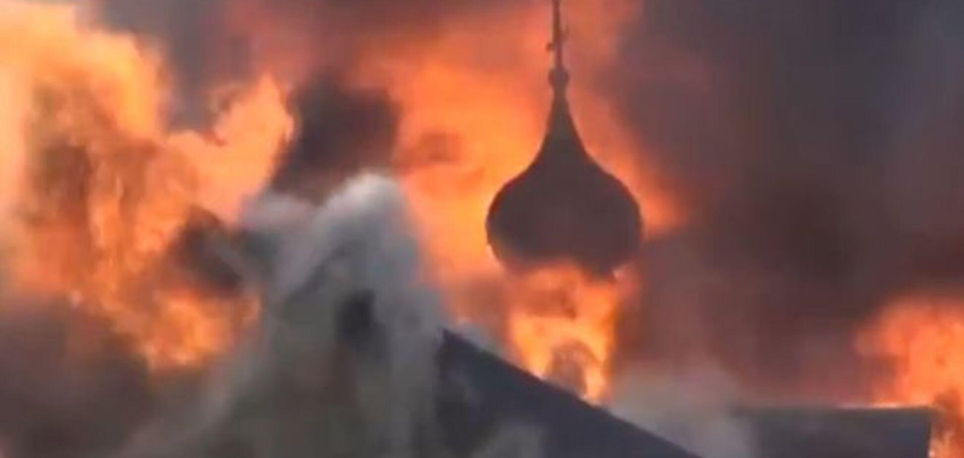 На Львовщине сгорела церковь 18 столетия