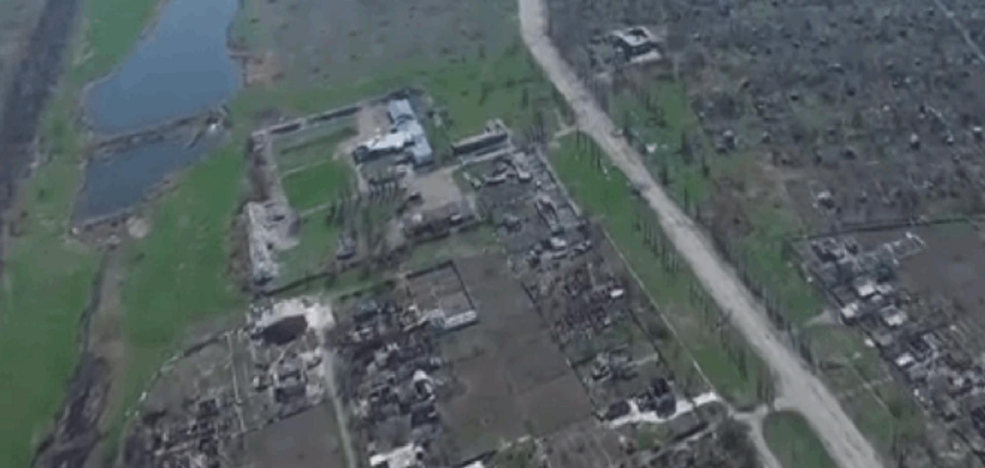 Опубликовано видео с дрона разрушенных до основания Песок