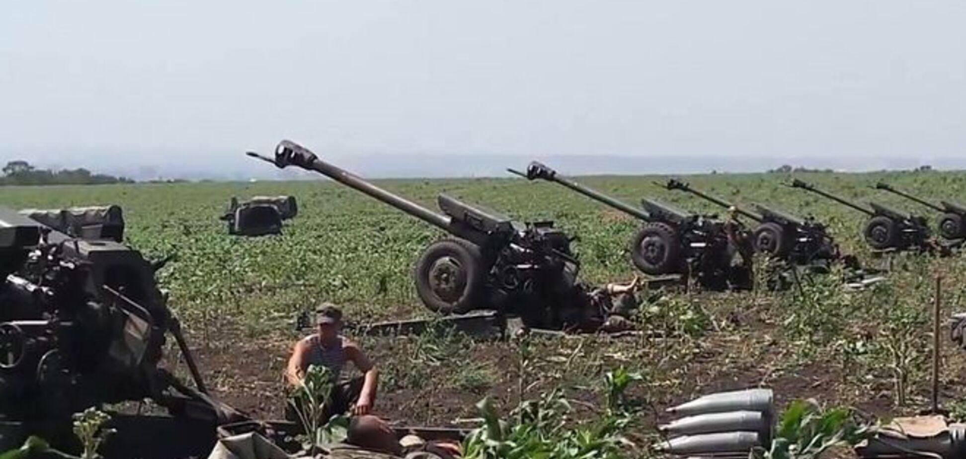 Украинская артиллерия подавила попытку наступления террористов