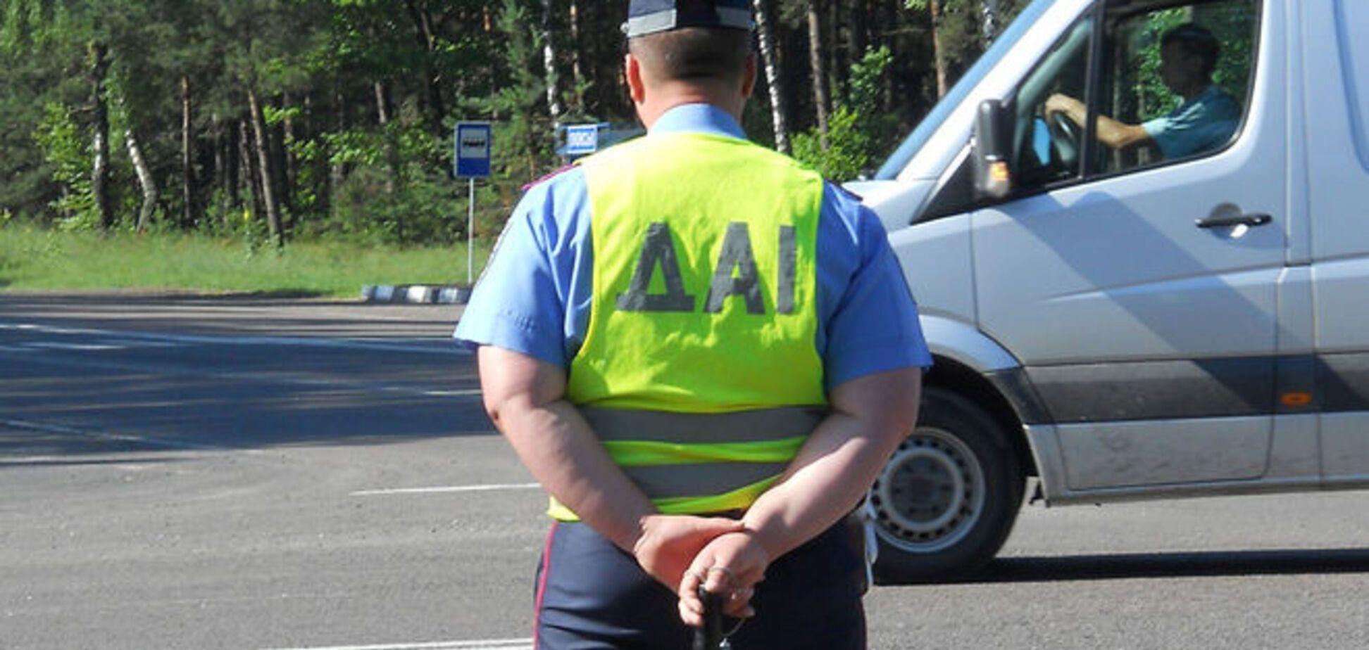 В Киеве задержали водителя-хулигана с оружием