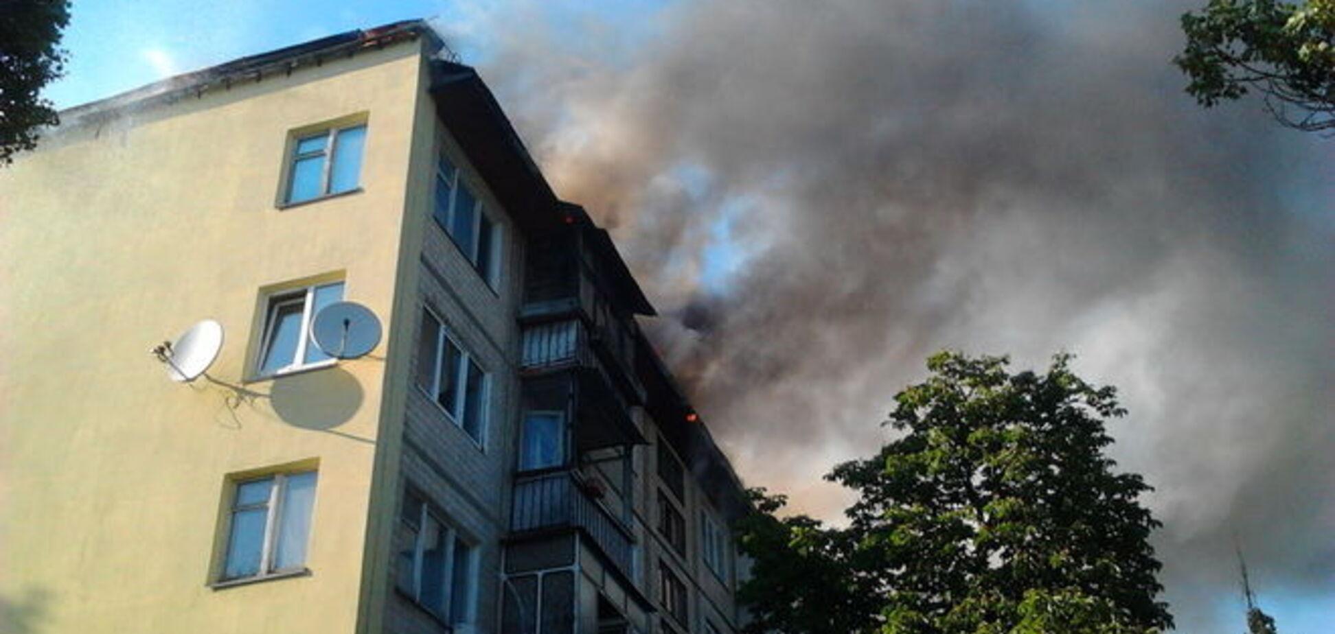 В Киеве вор украл из горящего дома ноутбук