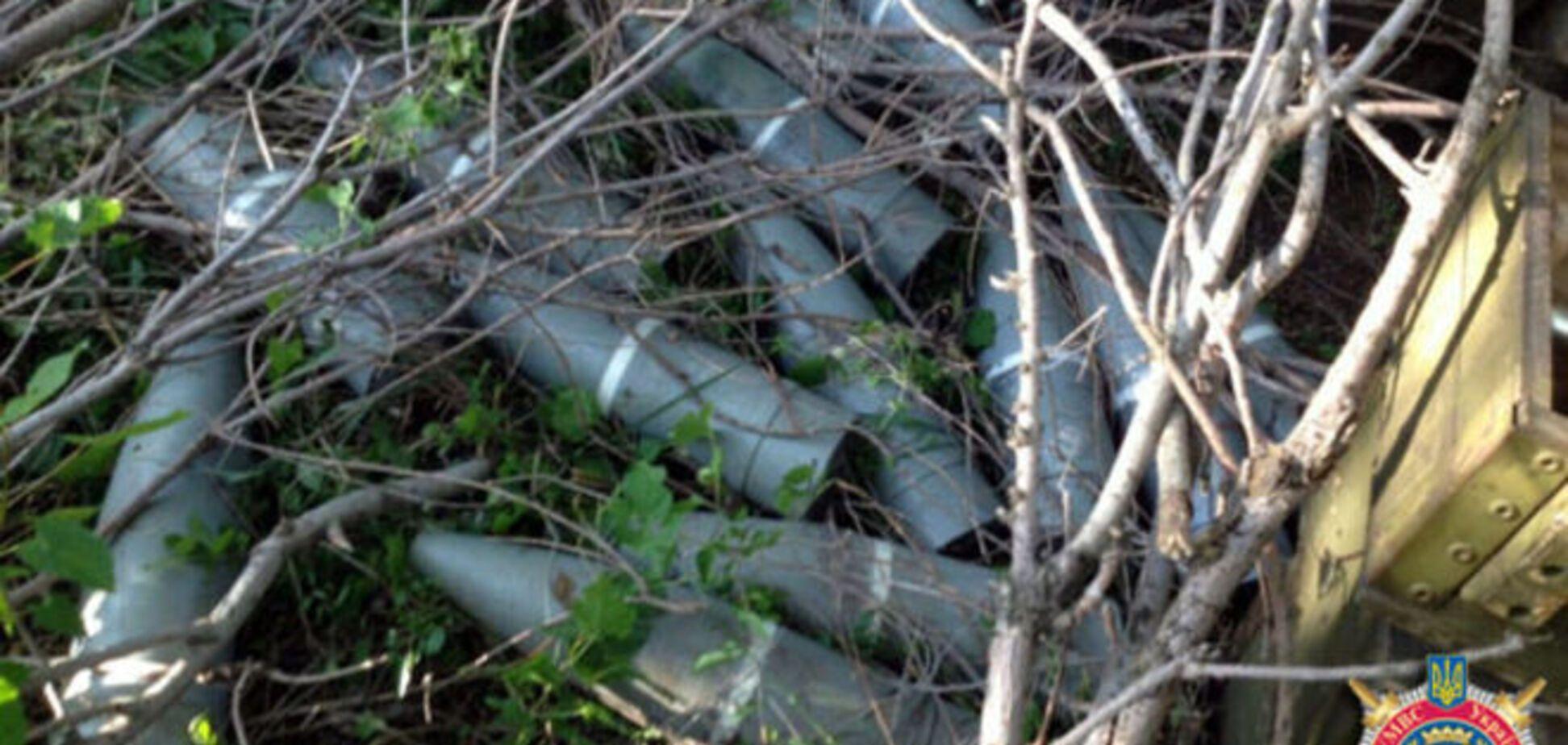 Под Волновахой обнаружен тайник с боеприпасами террористов: фотофакт