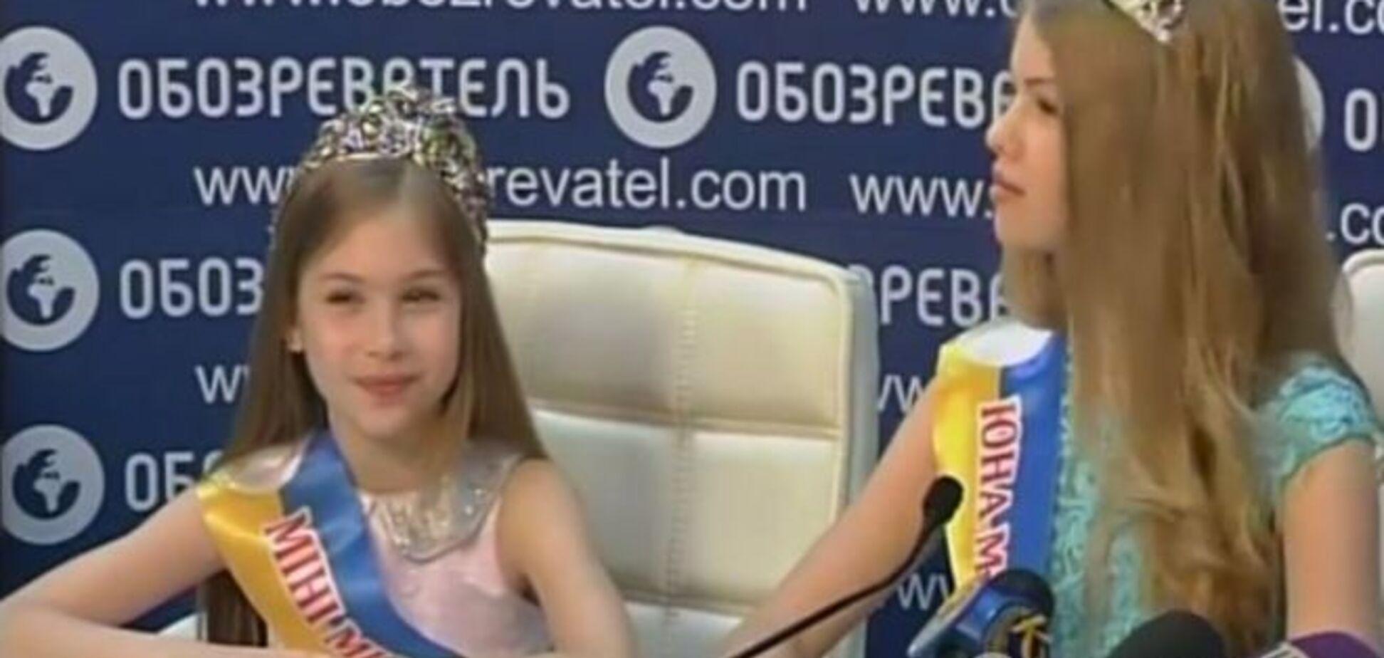 8-летняя Мини Мисс Украина: диет у меня нет, я от природы такая