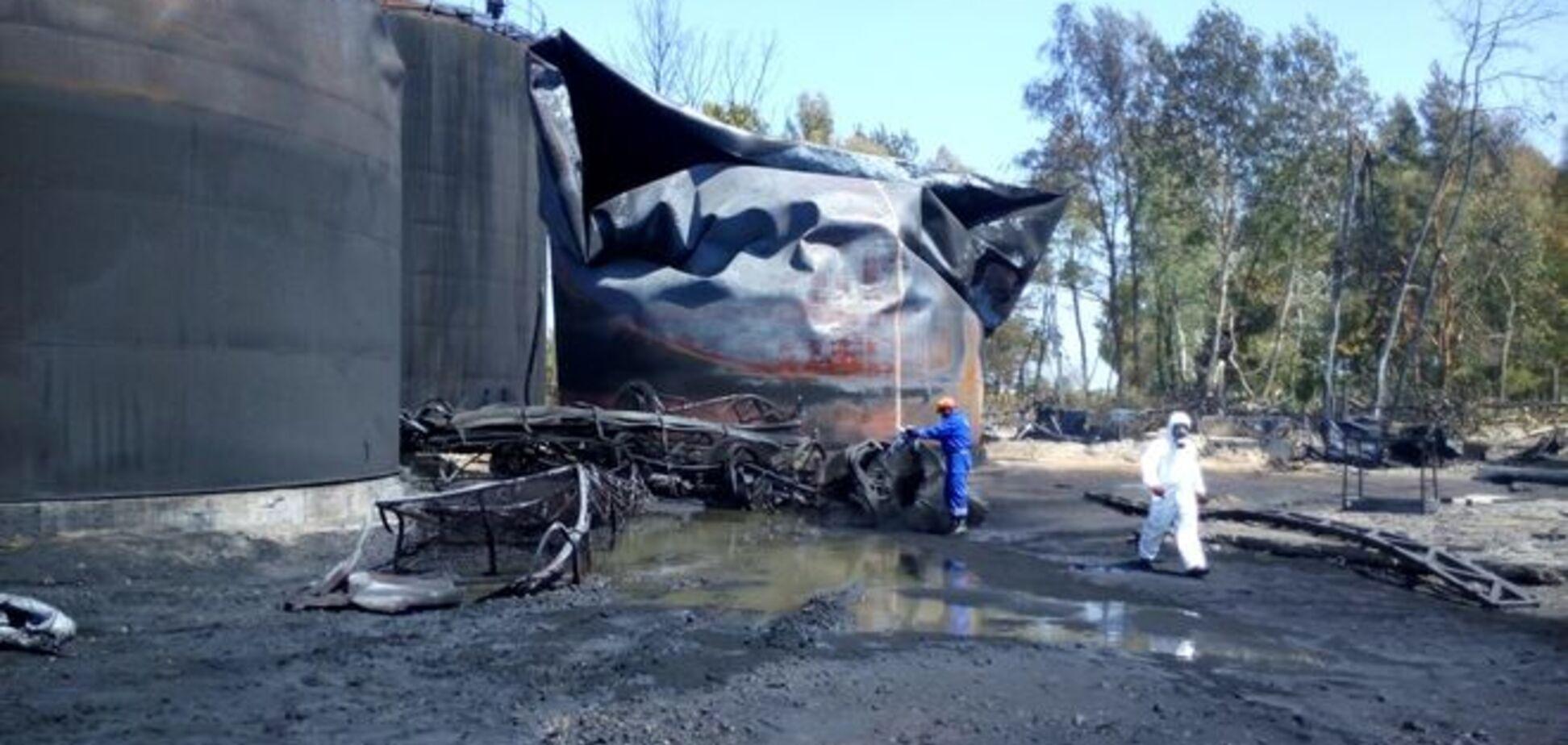 Пожежа на нафтобазі під Васильковом: свіжі дані