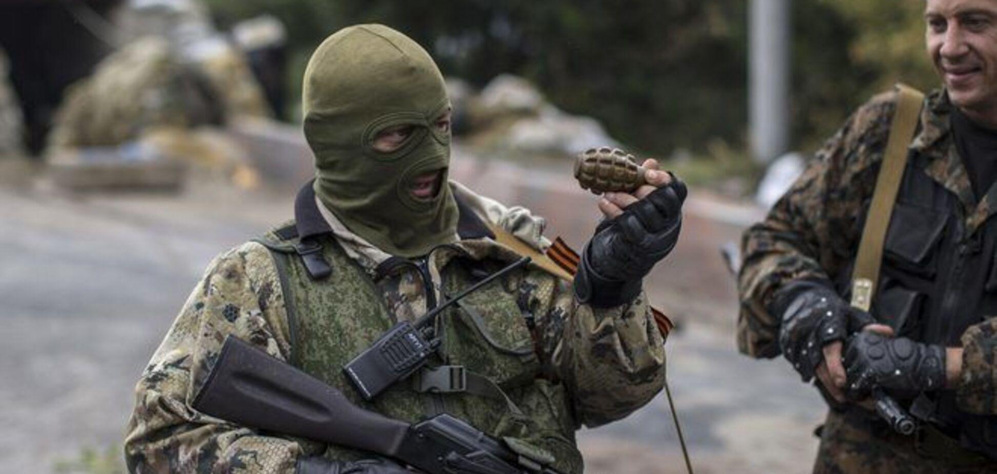 На Донетчине террорист разбрасывал по улице противопехотные гранаты