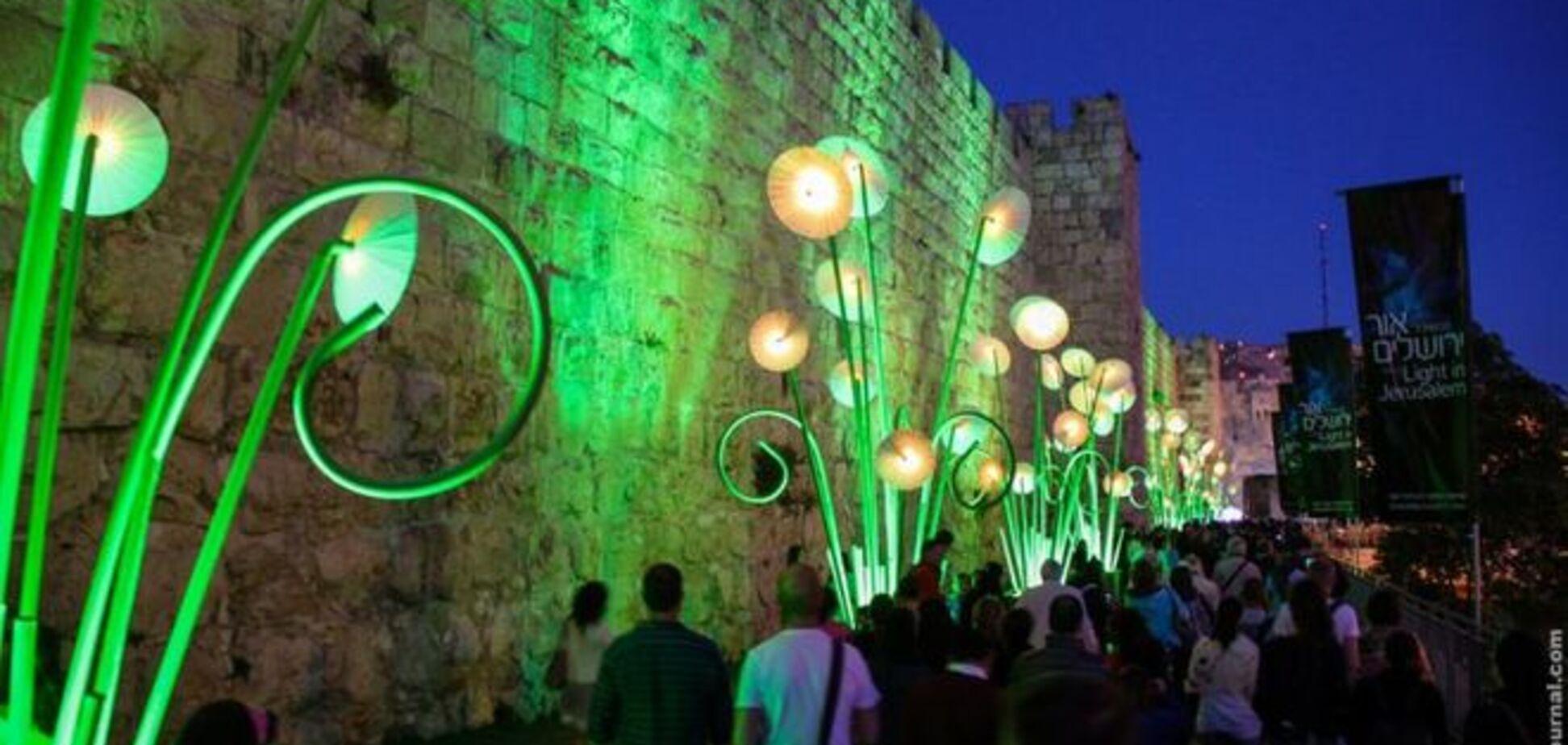 Потрясающий фестиваль света в Иерусалиме
