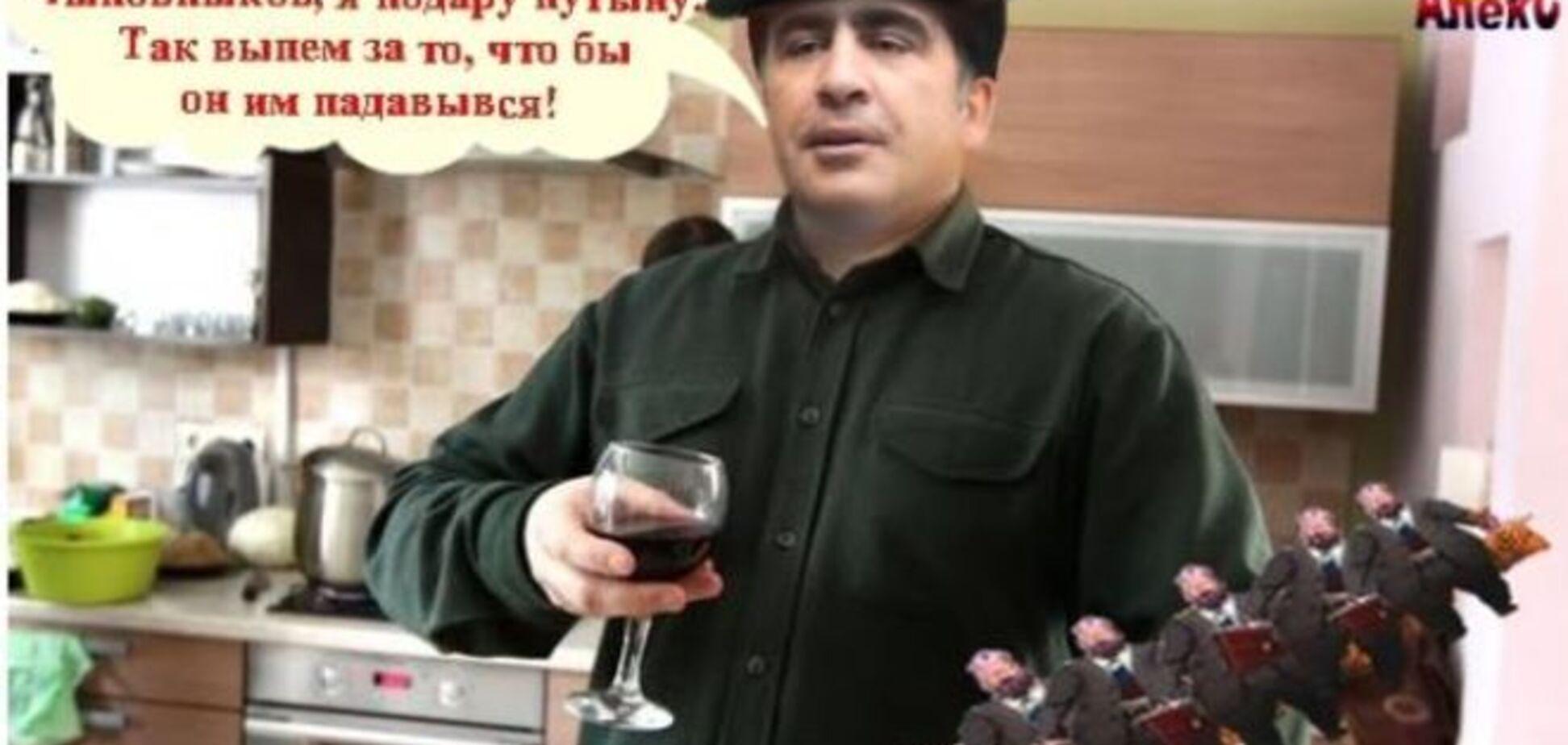 Шашлык от Саакашвили, 'шапито-шоу' и ограбленный Кобзон: о чем шутят соцсети в фотожабах