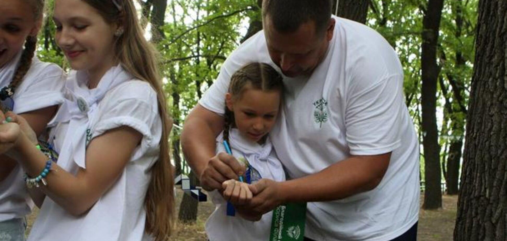 В Днепропетровске открыли детский лагерь 'Укропчик'. Фотофакт