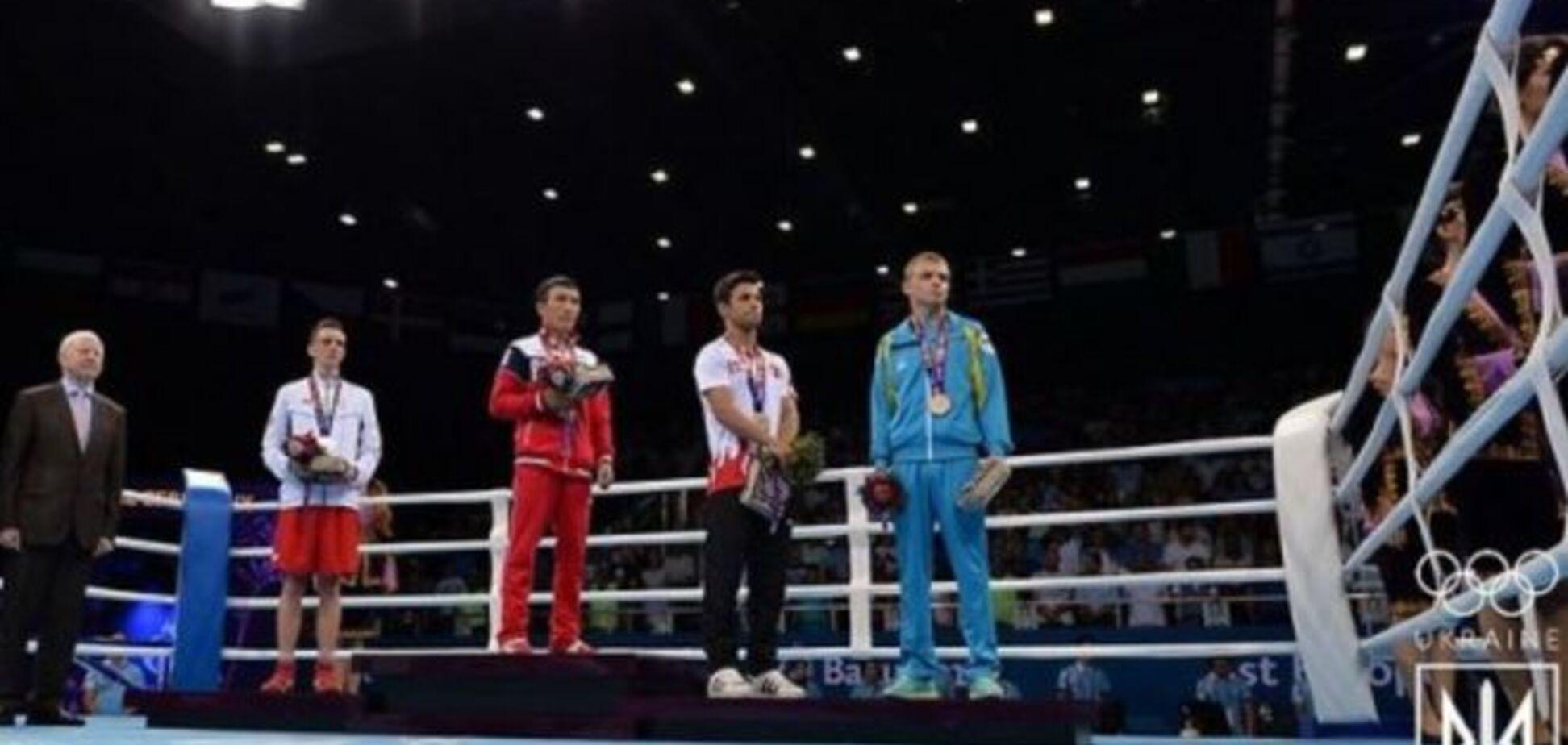 Український боксер показав своє ставлення до Росії на Європейських іграх: відео протесту