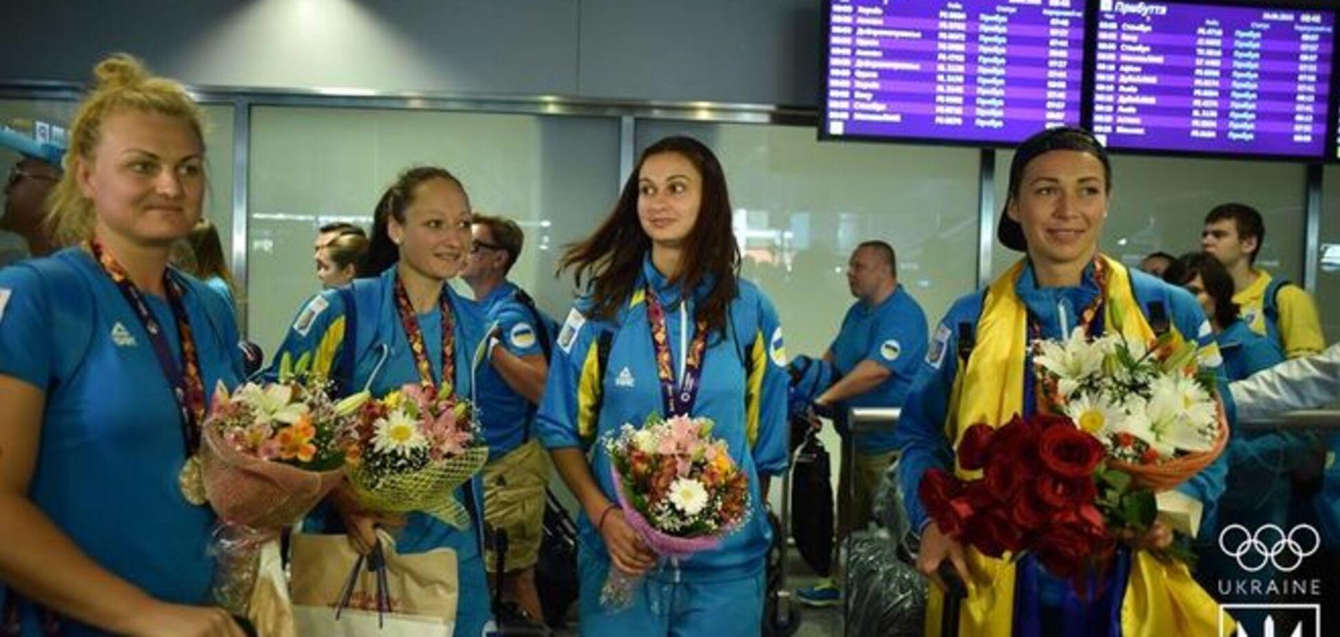 Украина встретила призеров Европейских игр