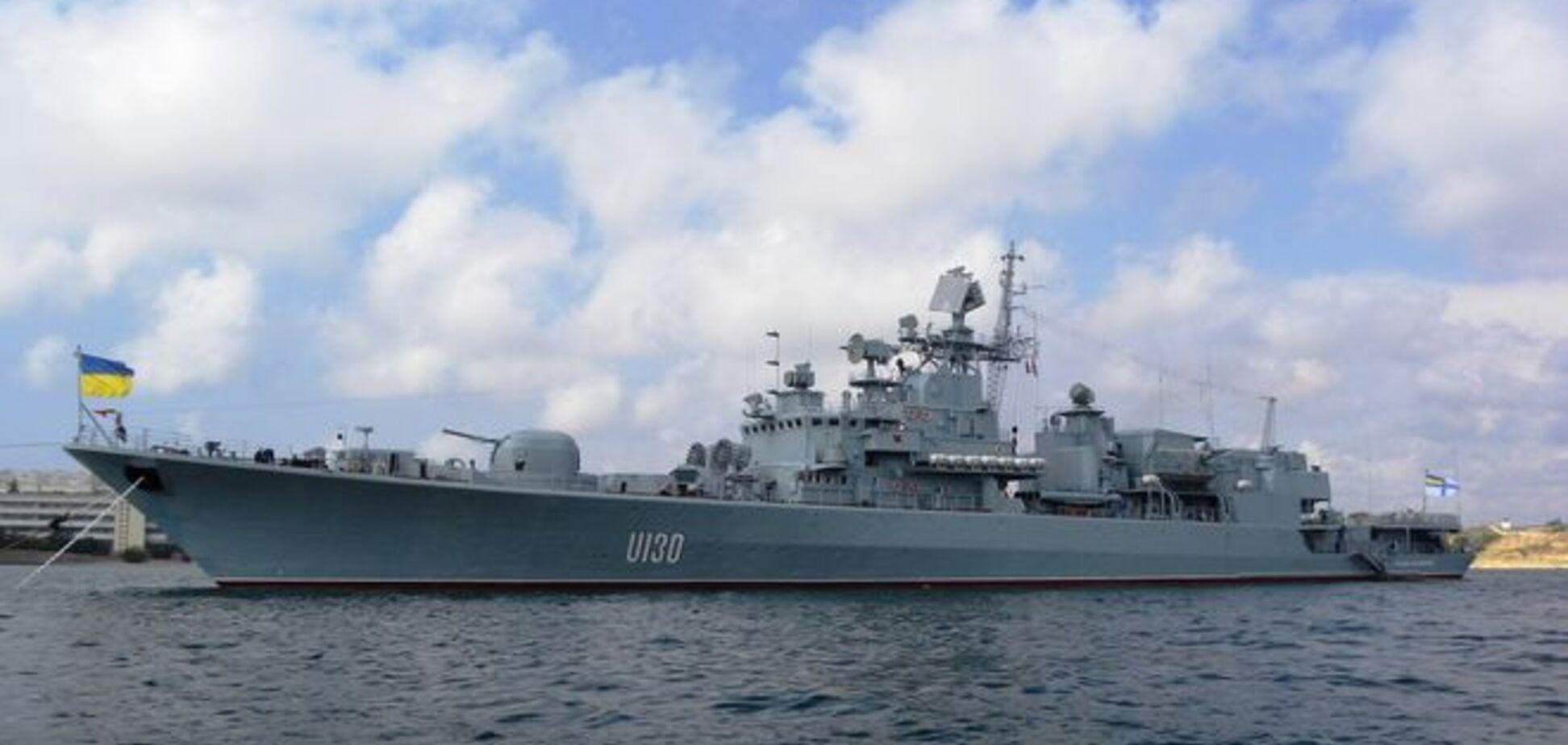'Гетман Сагайдачный' выгнал российский корабль из вод Украины