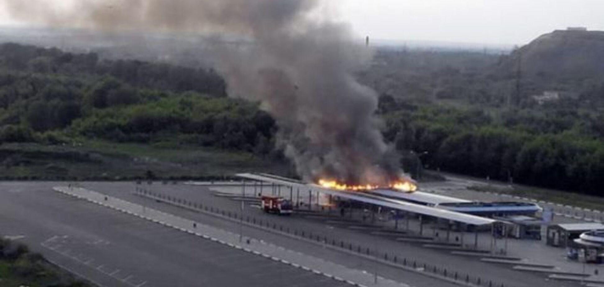 В Донецке сгорел автовокзал 'Западный': фото