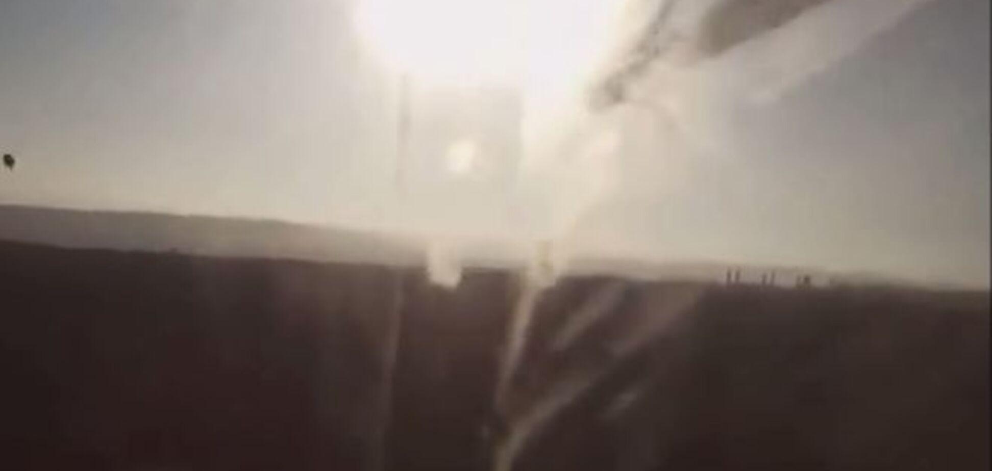 Опубликовано видео со сбитого на Донбассе вертолета