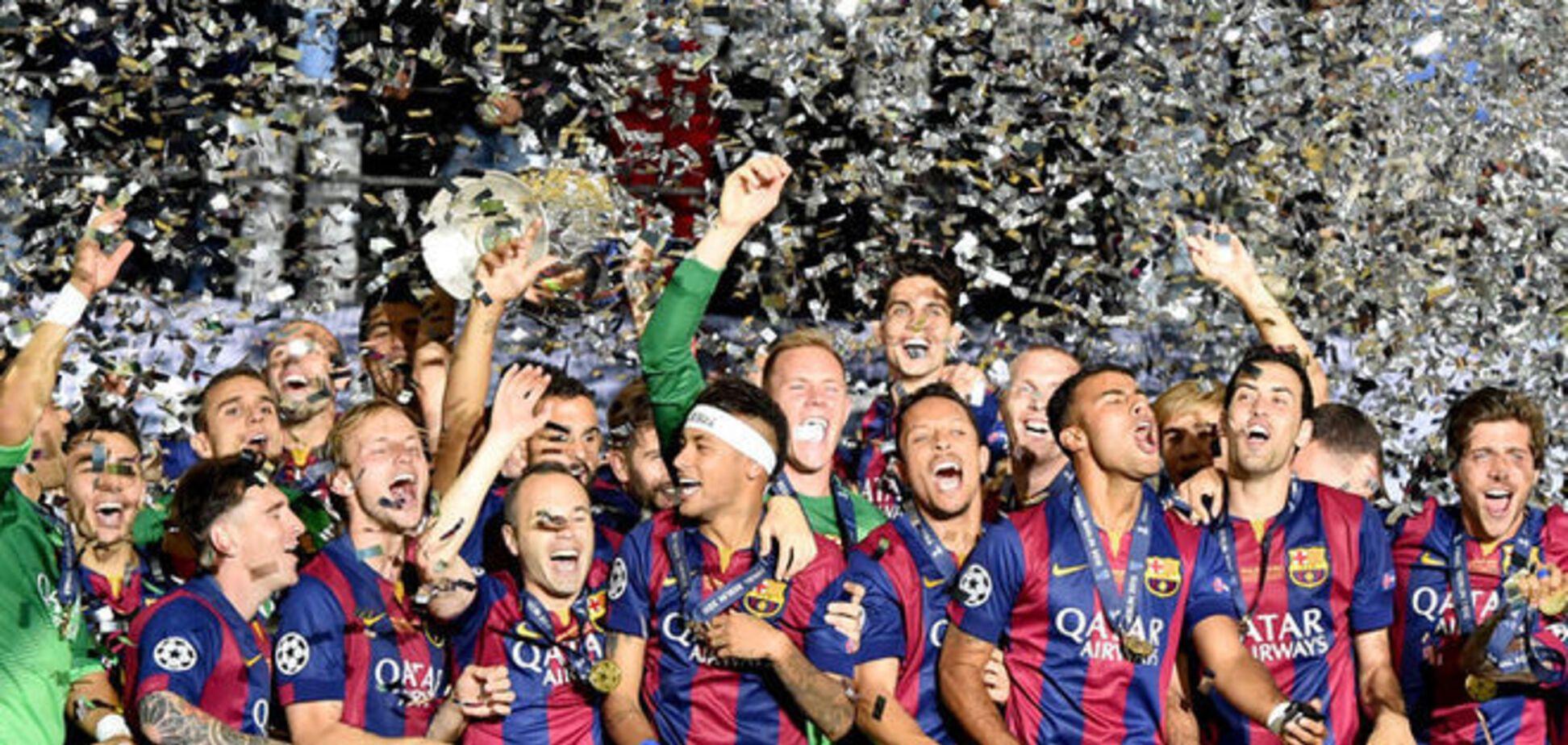 'Барселона' - победитель Лиги чемпионов: фото и видео награждения